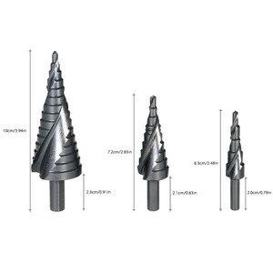 Image 2 - Набор быстрорежущих кобальтовых ступенчатых сверл 3 шт. 4 32 мм, высокоскоростная стальная спираль для металлического конуса, треугольного хвостовика, резак для отверстий