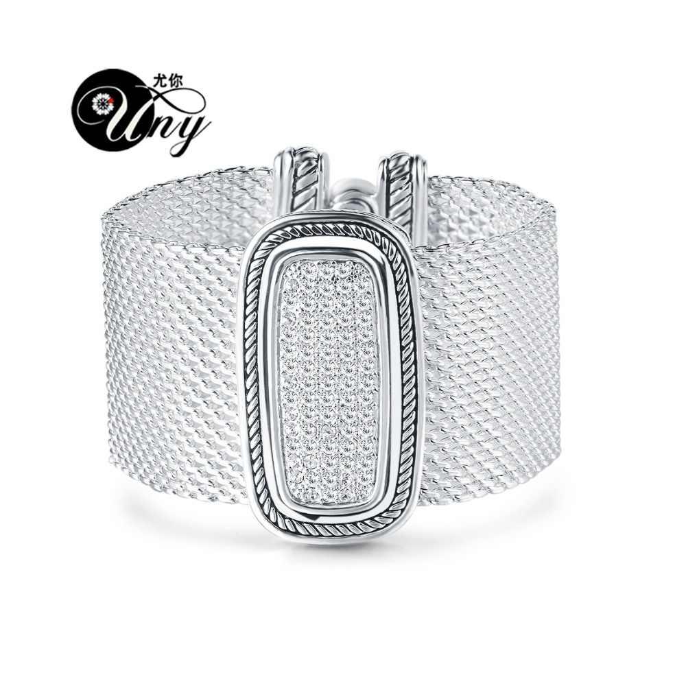 2. UNY Retro Pave Tinh Thể Vòng Đeo Tay thiết kế Vòng Đeo Tay Lấy Cảm Hứng Từ cá tính hợp kim vòng tay Vintage Cổ Bracelet Trang Sức