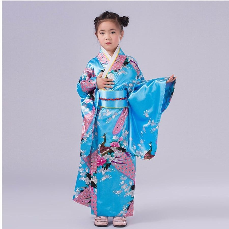 Fashionable Japanese Girl Kimono Dress Children Yukata