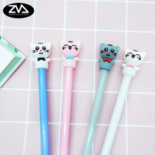 4pcs/lot Lucky cat modeling gel pen kawaii stationery pens 0.5 mm signature escolar learning office supplies papelaria