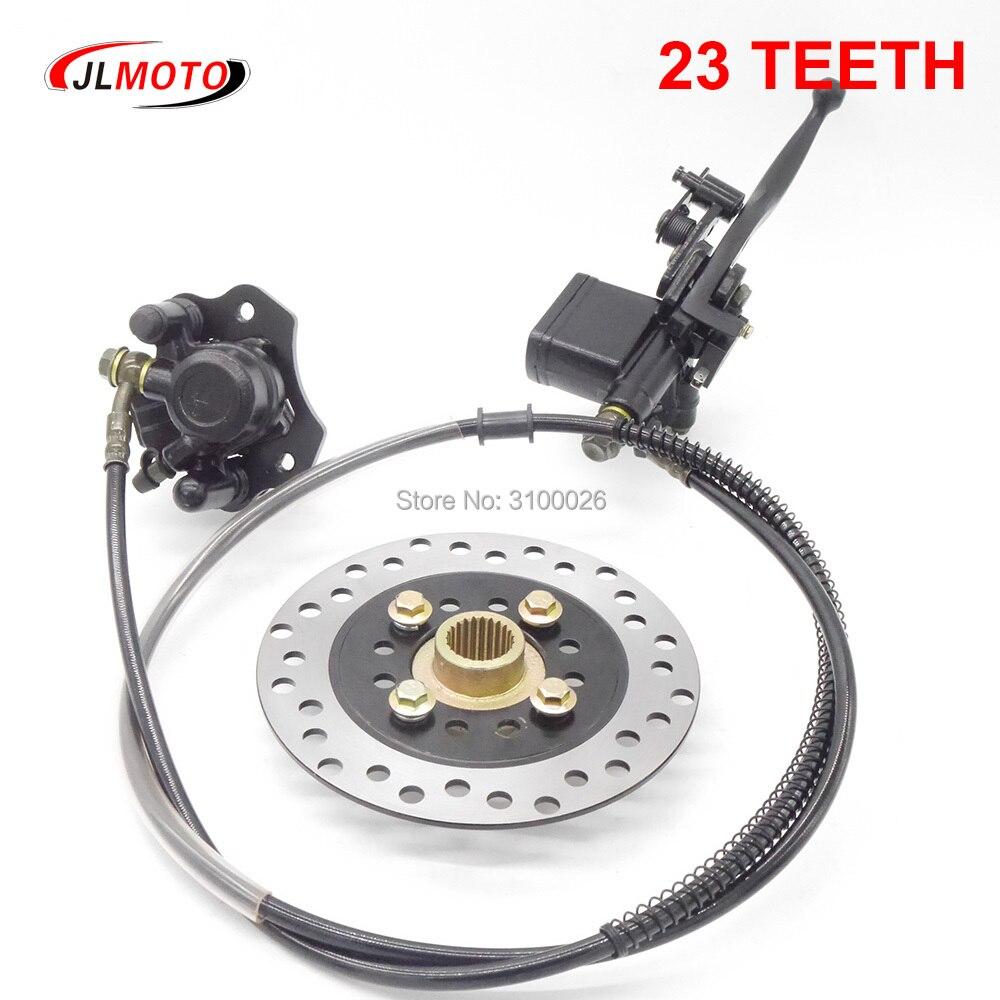 158mm/160mm Disc Brake with 23 Teeth Hub Fit For Rear Axle Brake Golf Quad ATV UTV Go kart Buggy Bike Parts