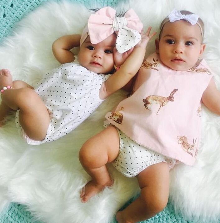 f3c05dcc65cd 3 PCS Child Toddler Baby Girl Clothing Tops Summer Top Rabbit Sleeveless  Bottoms Headband Outfit Clothes Baby Girls Set Tags: