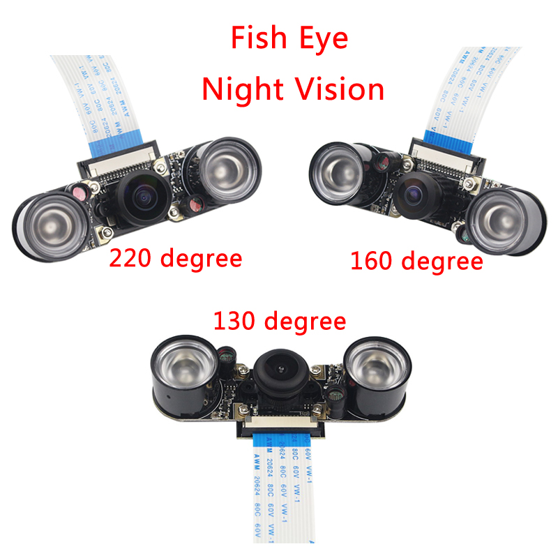 все цены на Raspberry Pi 3B+ Night Vision Camera+2pcs IR LED+15cm FPC Camera Module for 5MP OV5647 Raspberry Pi 3 Wide Angle Fish Eye Webcam онлайн