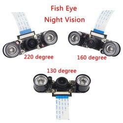 Raspberry Pi 3B+ Night Vision Camera+2pcs IR LED+15cm FPC Camera Module for 5MP OV5647 Raspberry Pi 3 Wide Angle Fish Eye Webcam