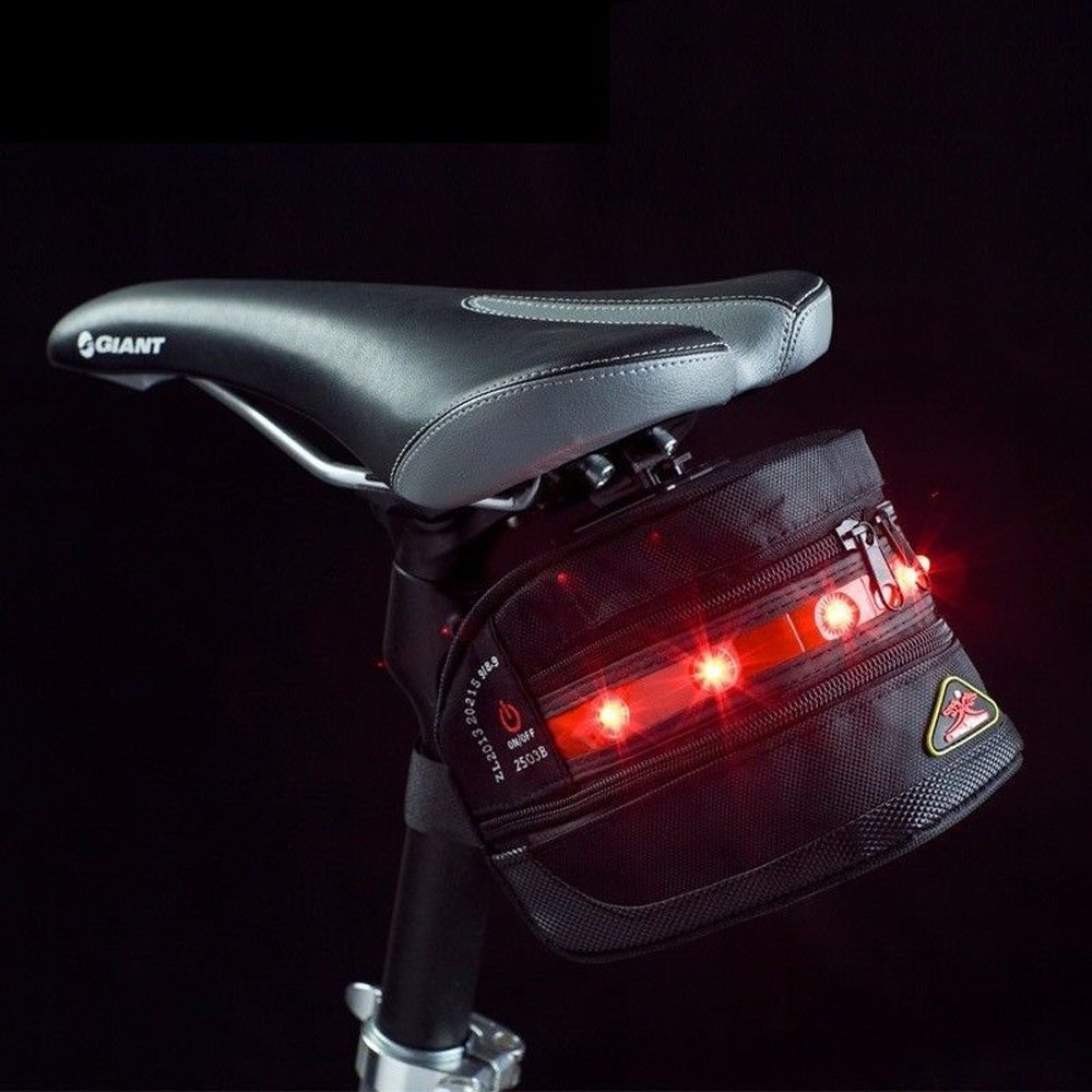 LEADBIKE Led Bike Light Bicycle Bag Warning Light Waterproof Saddle Tall Bag Cycling Riding Bike Accessories For Bicycle generic 2 3 5l bicycle saddle bag cycling rear bag