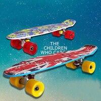 Kid Adult Skate Board Skatebod Banana Skateboarding Scooter Brush Street Board Four Roller Skating Slide Deck