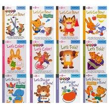 12 قطعة/المجموعة كومون دعونا قطع ورقة الخطوة الأولى المصنفات الصورة الكتب الكتب للأطفال الأطفال اوريغامي ورقة قطع ملصقا اليدوية
