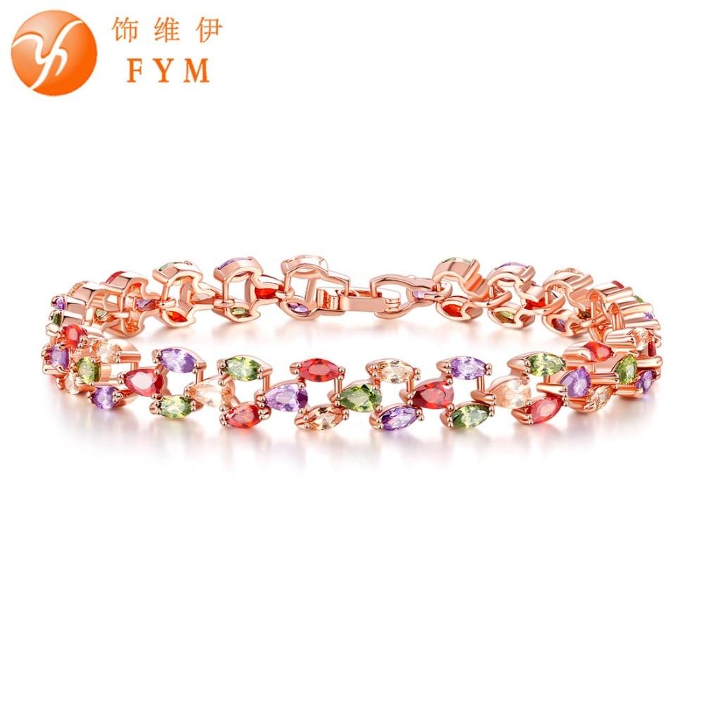 Lisa color Brand Women Colorato Mona rosa in oro Jewelry Fym fzwvxpp