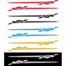 2pcs Car Racing Black 122inch Long Stripe Graphics Side Body Vinyl DIY stickers and Decals Styling Accessories Automobil