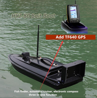 New Fiberglass fishing RC bait boat HYZ 80 2.4G 500M Intelligent auto Wireless RC Feeder hook feeding ship Add GPS/Fish Detector