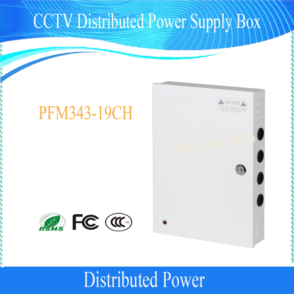 DAHUA Security Camera Accessories CCTV Distributed Power Supply box No Logo PFM343-19CH distributed reduplication