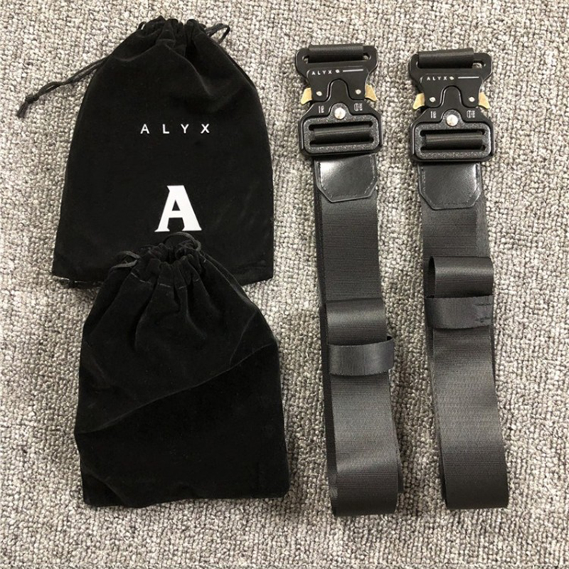 ALYX ROLLERCOASTER Safety BELT 1017 ALYX 9SM Unisex Metal Buckle Canvas Hip Hop Belt title=