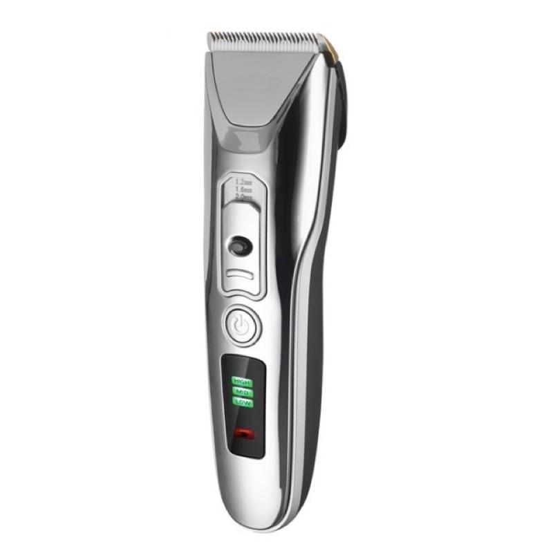 Máquina de Cortar Cabelo elétrica, Aparador de Barba Máquina de Corte de Cabelo Do Barbeiro, USB Recarregável, Indicação Da Capacidade Da Bateria, Lâmina de Cerâmica