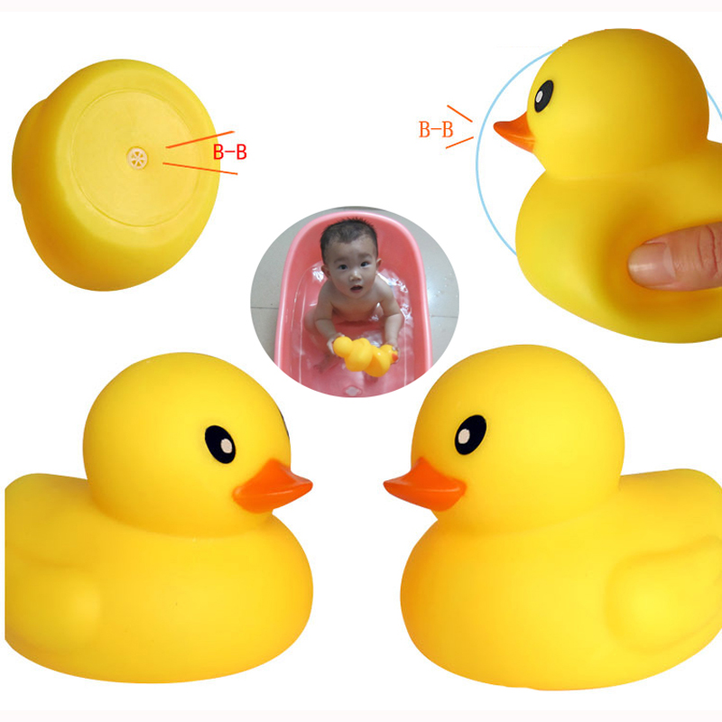 Baby rattle Bath toy Squeeze animal Rubber toy duck BB Bathing water ...