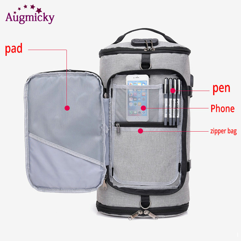 Image 2 - USB Charging Laptop Backpack Shoe Pocket 15.6 inch Anti Theft Women Men School Bags For Girls College Travel Backpacks Rucksack-in Laptop Bags & Cases from Computer & Office