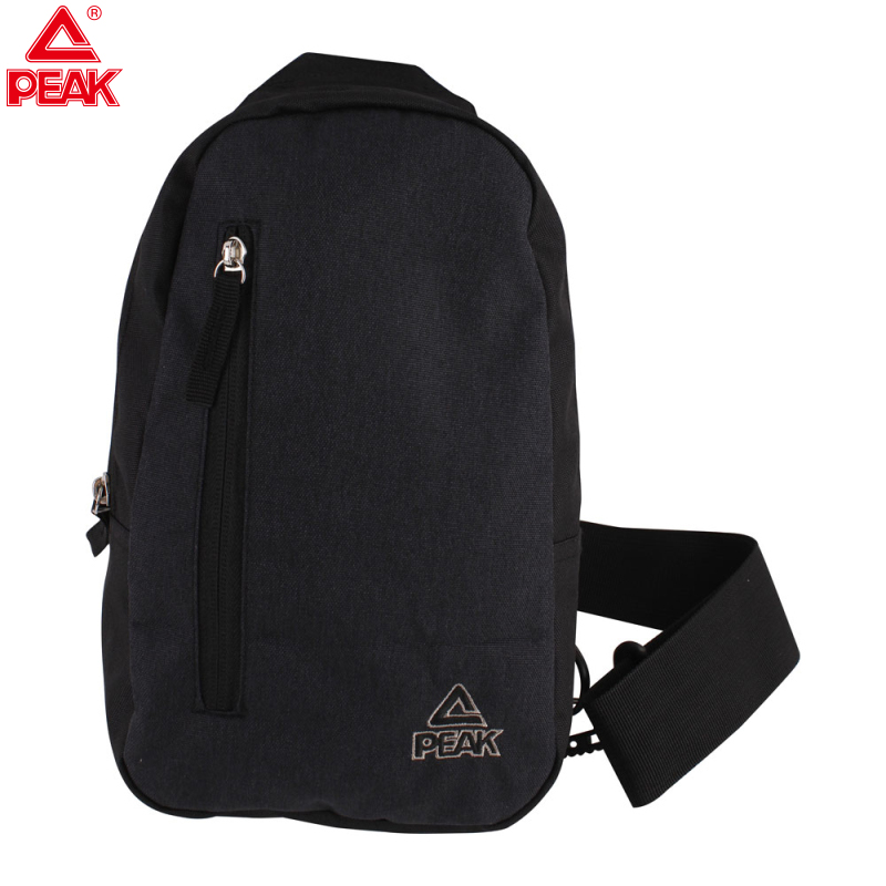 PEAK Canvas Chest Bag Men Sport Cross Body Light Messenger Travel Shoulder Bags Single Body Bag For Man Black Pocket Anti Theft