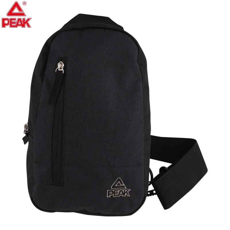 PEAK Canvas Chest Bag Men Sport Cross Body Light Messenger Travel Shoulder Bags Single Body Bag For Man Black Pocket Anti Theft