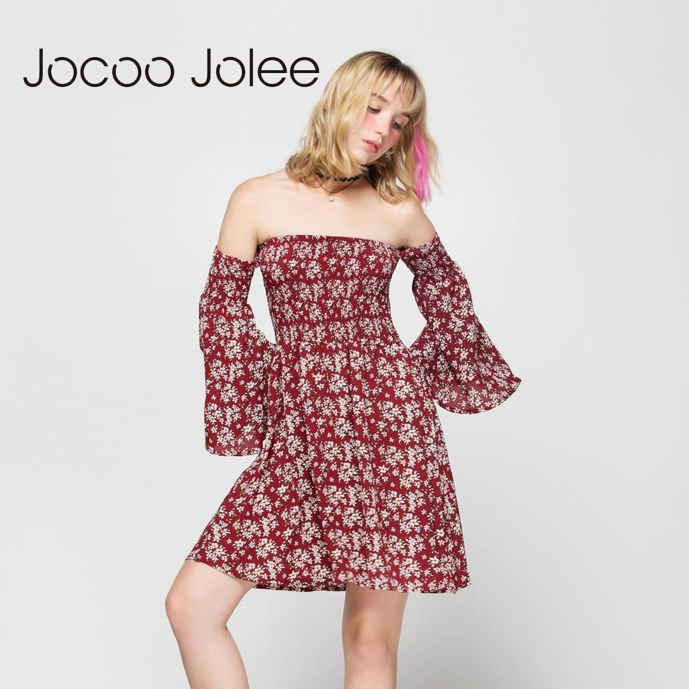 Jocoo Jolee Qadın Çiçəkli Çap Don Qollu Boyunbağı Qollu - Qadın geyimi - Fotoqrafiya 2