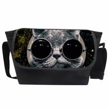 Coloranimal 3D Galaxy Star Sunglasses Cat School Bags Messen