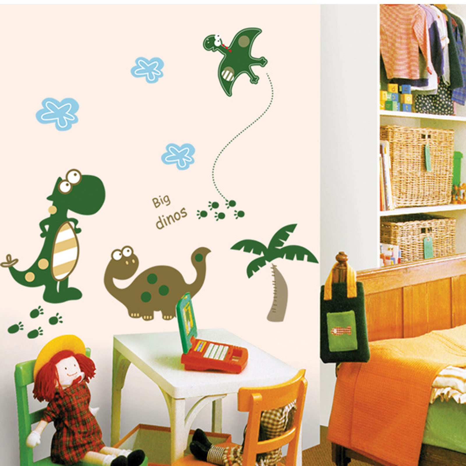 Kindergarten Nursery Room Cute Dinosaur Pattern Mural Decal Art