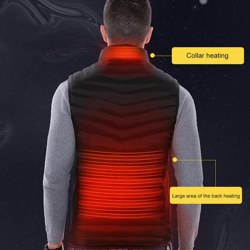 Large Size Autumn And Winter Men's Stand Collar Heating Cotton Vest Graphene Electric Vest Adjustable USB Charging Heated Cloth large size autumn and winter men s stand collar heating cotton vest graphene electric vest adjustable usb charging heated cloth