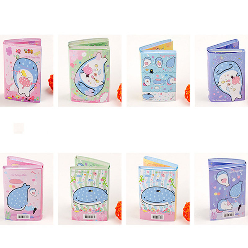 1PCS 6 Folding Memo Pad Lovely Happy Whale N Times Sticky Notes Memo Notepad Bookmark Gift Stationery School Office Supplies 1pcs creative cute memo notes on paper blossoms stationery office can tear scratchpad bookmark notebook free shipping