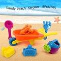 8 Pçs/set 2016 Das Crianças Das Crianças Brinquedos de Praia Do Bebê Brinquedos do Banho de Água Ambiente & Segurança Brilhante Colorido do Moinho de vento de Areia Verão Seaside