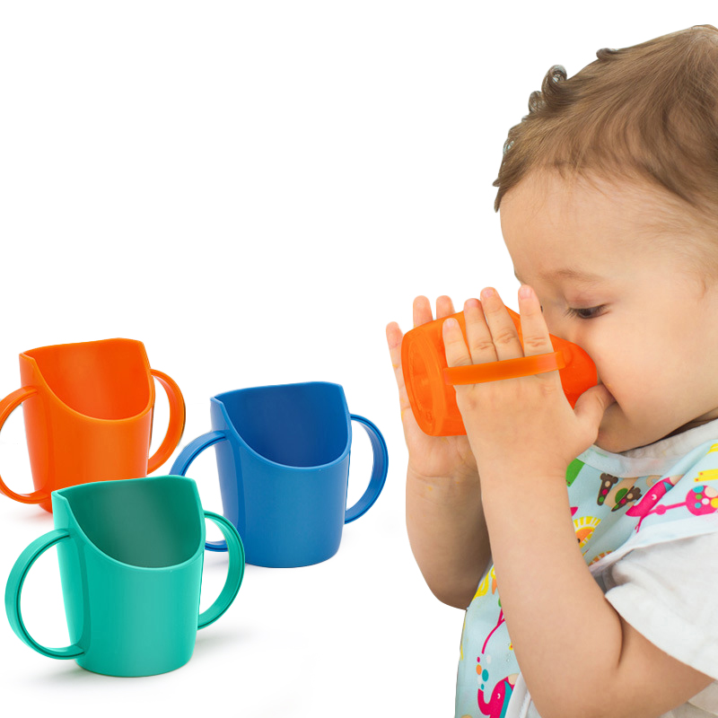 70ML BPA Free Baby Feeding Cups With Handle Mouth Fitting Cup Safety Leakproof Training Kids Water Bottles Cups