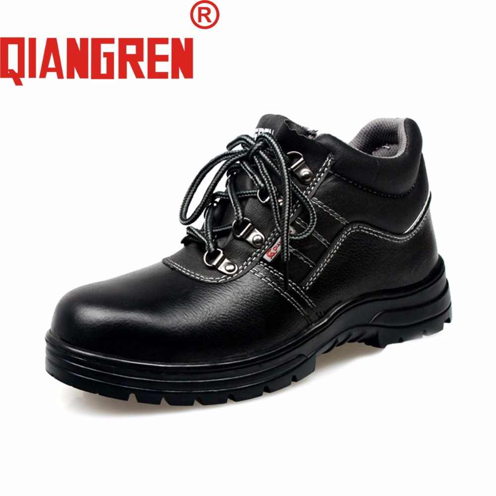 QIANGREN High-grade Quality Military Factory-direct Men's Autumn Genuine Leather Safety Boots Outdoors Work Safety Shoes Homme a low cost factory direct high grade high cycle life lithium polymer battery 801745