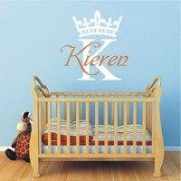 ASAPFOR Crown Wall Sticker Custom Name Initial Monogram Nursery Vinyl Wallpaper Decor For Baby Kids Rooms