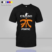 Fnatic T-shirt DOTA 2 CS CSGO Counter Strike fnatic druck Männer T-Shirt Spiel Team baumwolle O Hals camisetas top tees
