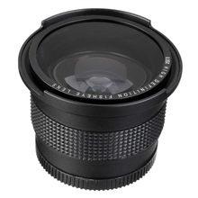 Lightdow52 mm 0.35x lente de peixe, grande angular + lente macro para nikon d7100 d5200 d5100 d3100 d90 d60 com lente de 18-55mm