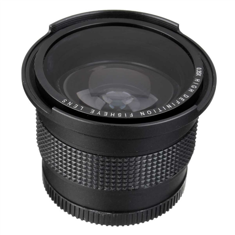 Lightdow 52MM 0.35x Fisheye Super Wide Angle+Macro Lens for <font><b>Nikon</b></font> D7100 D5200 D5100 D3100 <font><b>D90</b></font> D60 with 18-55mm Lens image