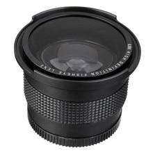 Lightdow 52MM 0.35x balıkgözü süper geniş açı + makro Nikon için Lens D7100 D5200 D5100 D3100 D90 D60 18 55mm Lens