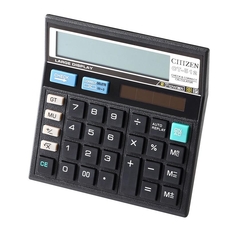 Офисные Мути-функция калькулятора большие клавиши Dual Power Солнечная 12 цифр калькулятор