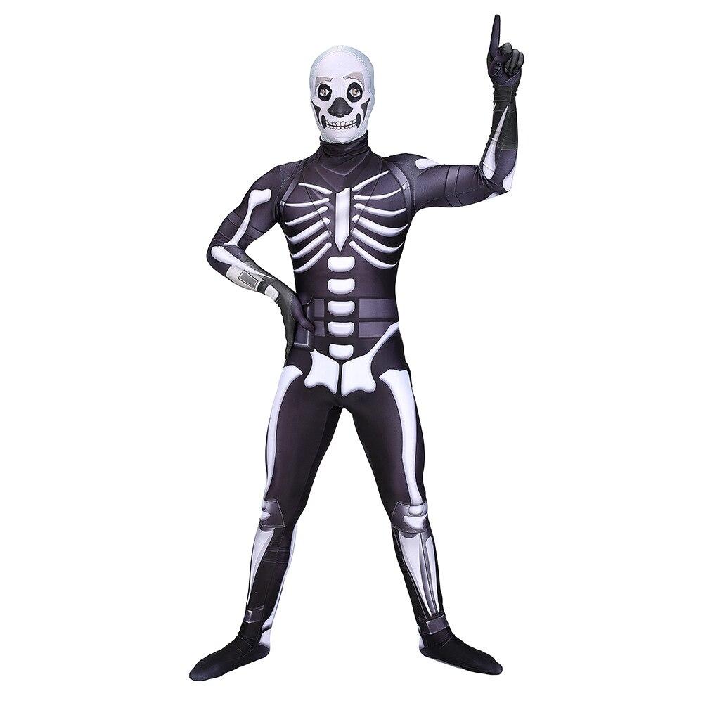 Gehoorzaam Nieuws Volwassen Kids Game Cosplay Kostuum Schedel Trooper Menselijk Zentai Bodysuit Pak Jumpsuits Halloween