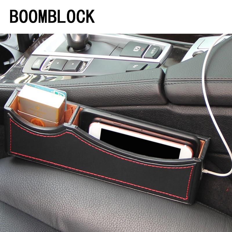 Car styling Seat Gap Box Armrest Organizer For Skoda Octavia A5 A7 2 Rapid Fabia Yeti Superb Volvo V70 XC60 XC90 VW Tiguan 2017