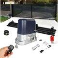 Автоматические раздвижные ворота двигатель переменного тока раздвижные ворота контроллер с 4 м нейлоновые стеллажи наборы опционально для...