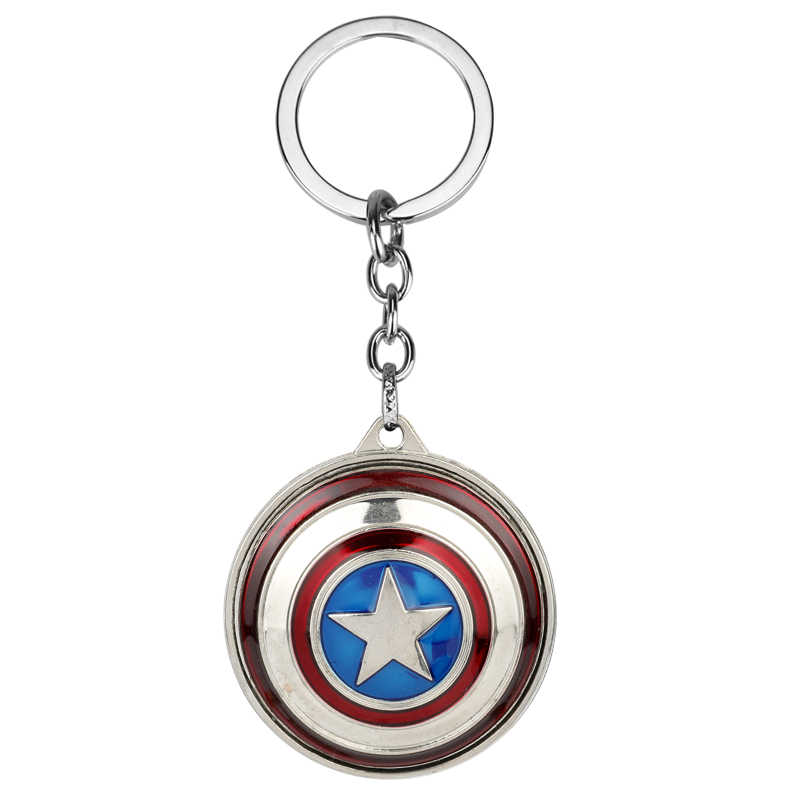 MQCHUN New Marvel Super Hero Captain America pendant key ring key holder llaveros metal avengers Cosplay Keychain Gift-50