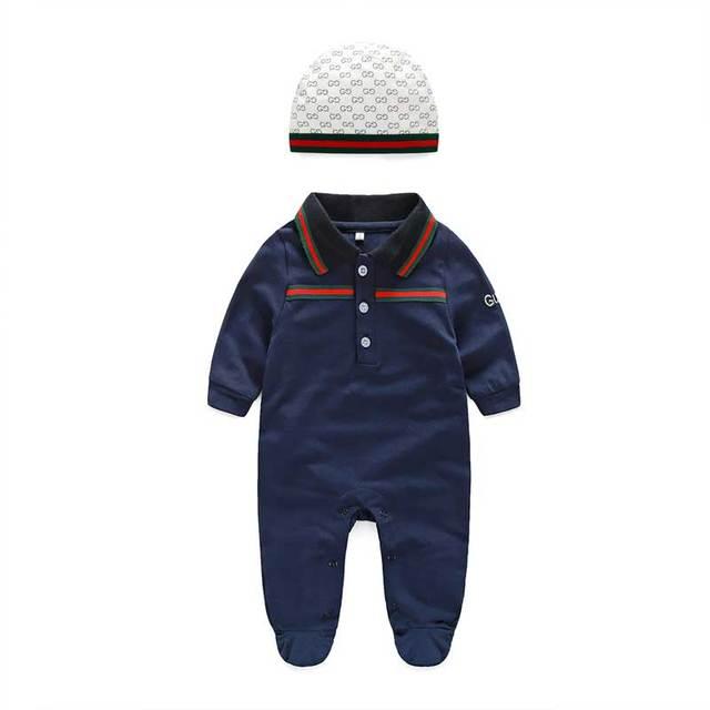 Niños bebé ropa de bebé recién nacido Mameluco Largo de la manga blanca Y punto set sombrero infantil ropa del mono del bebé 0-3 6 9 24 meses