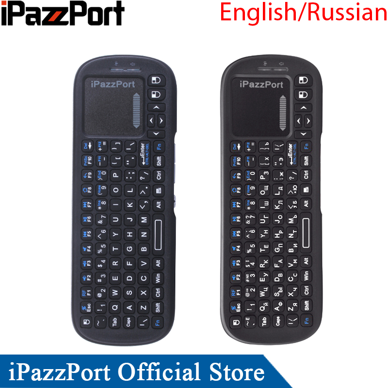 iPazzPort Russian Mini Wireless Keyboard Air Mouse with Touchpad for Android TV box/Smart TV/Raspberry Pi/HTPC/Laptops 2 4g mini wireless keyboard mouse with touchpad for pc android tv htpc