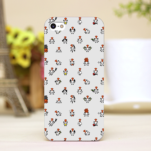 Pz0068 1 Cartoon Cute Panda Wallpaper Design Phone Transparent Cover Cases For Iphone 4 5