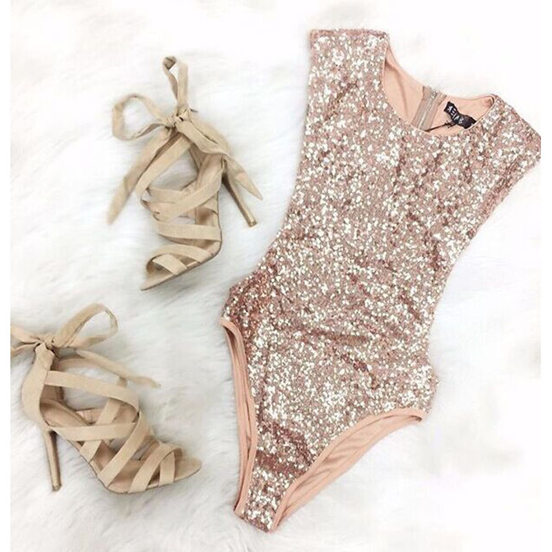 Summer Style Sequined Design Rompers Jumpsuits Elegant