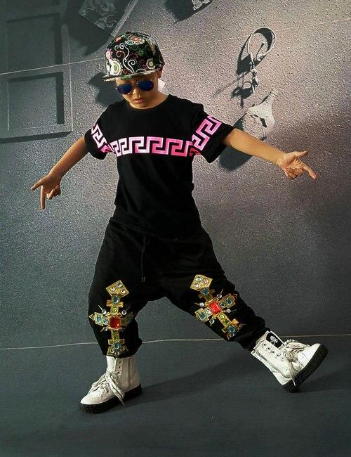 Kids Adults Brand Sweatpants Costumes wear button jazz  Patches trousers Black Harem Hip Hop Dance Pants