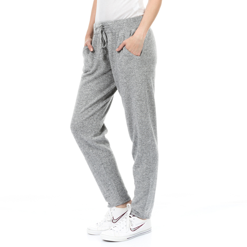 Kalvonfu Spring/Autumn Women Trousers Comfortable Gray Pants Casual Home Sleepwear 100%Cotton S-5XL
