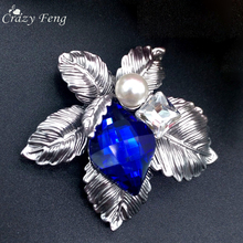 Crazy Feng Brooches For Women 2017 Vintage Large Brooches Brand CZ Brooch Pins For Wedding Bouquets Flower Brooch Luxury Jewelry