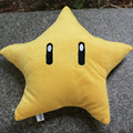 "Halloween Toy Gift 30cm Super Mario Bros Plush Toys 12"" Cute Cartoon Yellow Star Soft Stuffed Doll Pillow Free Shipping"