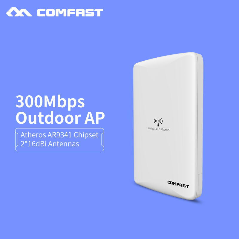 2.4GHz Outdoor CPE bridge 300Mbps long range Signal Booster Extender Wireless AP dual 16db CPE wifi repeater CF-WA300 nanostatio