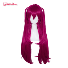 L email wig Game Fate Grand Order Elizabeth Bathory Cosplay Wigs 65cm Long Heat Resistant Synthetic Hair Perucas Cosplay Wig