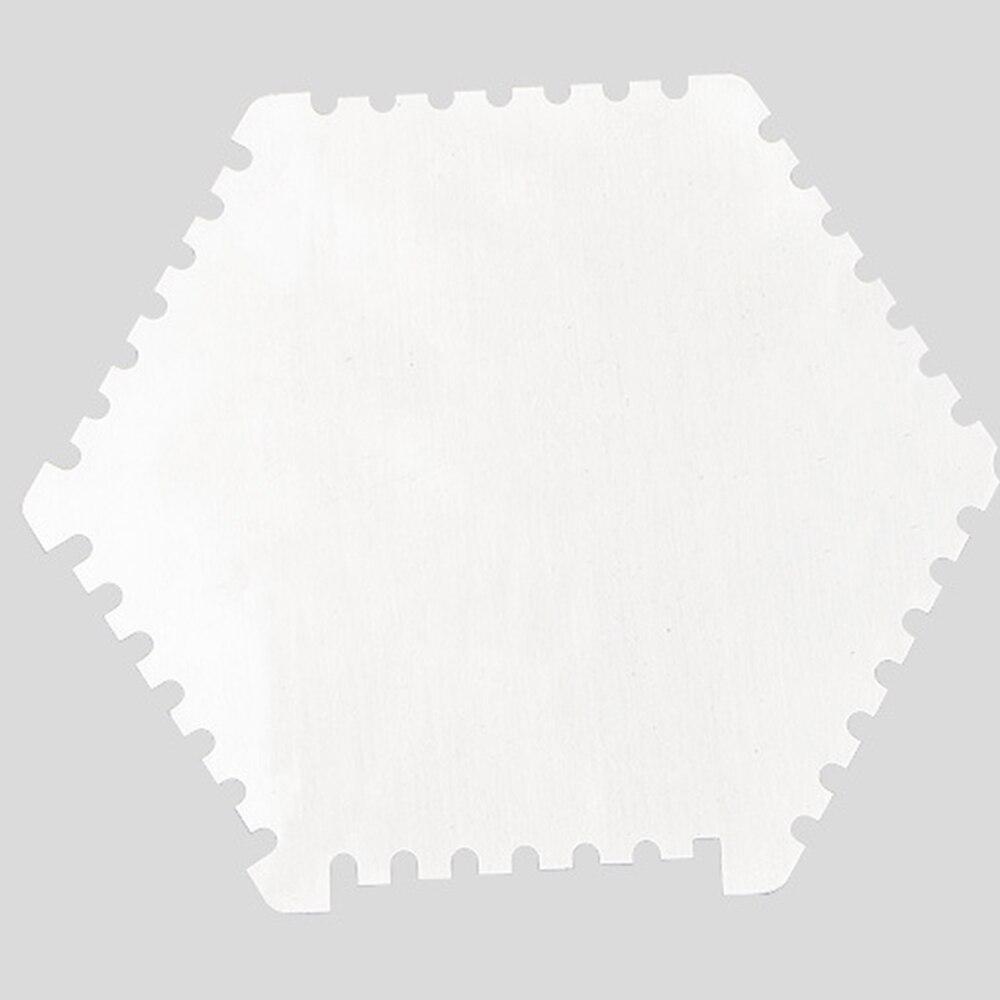 Stainless Steel hexagonal Wet Film Comb Paint Wet Films Thickness Gauge Card US